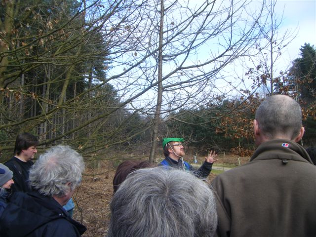 Poet Dave Wood recites his poem for the trees
