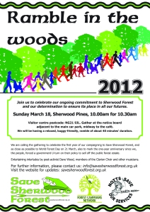 Ramble in the Woods 2012 flyer