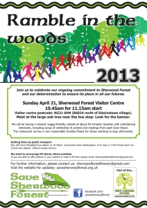 Ramble in the Woods 2013 flyer