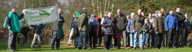 Save Sherwood Forest Supporters on our Ramble in the Woods 2012
