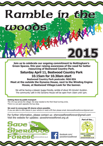 Flyer for the annual Ramble in the Woods